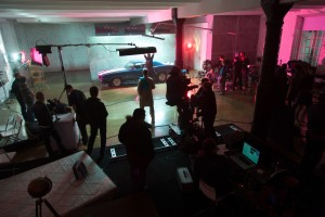 Behind the scenes on a set